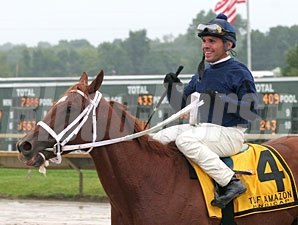 Inspired wins the 2012 Turf Amazon.