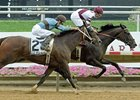 Royal Delta won the 2012 Delaware Handicap by a neck.