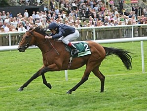 Duke of Marmalade pulls away in the Juddmonte International.