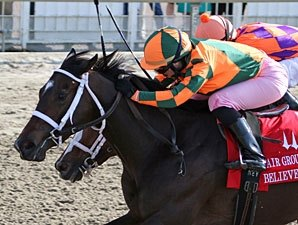 Believe You Can Holds On in Fair Grounds Oaks