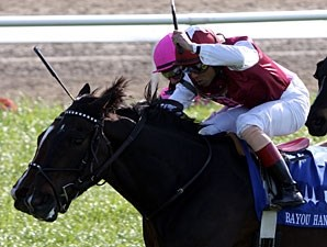 Tizaqueena wins the 2010 Bayou Handicap.