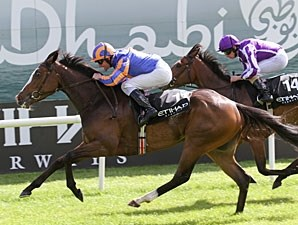 Misty For Me wins the Irish 1,000 Guineas.
