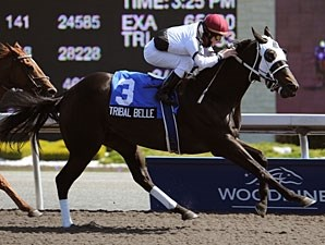 Tribal Belle wins the 2010 Hendrie Stakes.