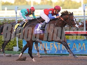 You and I Forever wins the 2010 Gulfstream Park Handicap.