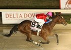 Quiet Temper splashes to victory in the Delta Princess.