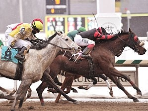 Sweet Goodbye ridden by J.D. Acosta wins the $1500,000 Barbara Fritchie Handicap (Grade 2) for fillies and mares at Laurel Park in Maryland on Monday, Feb. 15, 2010.