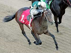 Lantana Mob takes the Bachelor Stakes at Oaklawn Park.