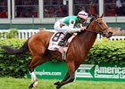 Aviate Flies Home in CD Distaff Turf Mile