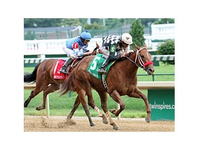 Flashy Bull's daughter, Flashy Lassie, won the Debutante Stakes at Churchill June 25.