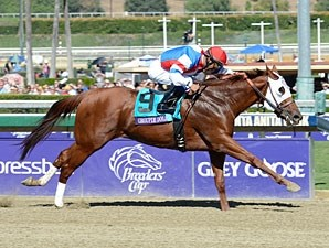 Groupie Doll wins the Breeders' Cup Filly & Mare Sprint.