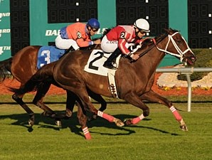 Suzzona wins the 2010 Lightning Stakes.
