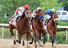 Havre de Grace (left) goes by Switch to take the Apple Blossom at at Oaklawn.