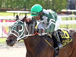 Scandalous Act wins the 2013 Florida Stallion Stakes My Dear Girl Division.