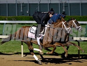 Princess of Sylmar and Fusaichiswonderful at Churchill Downs.