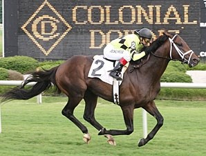 Pleasant Strike wins the 2009 Daniel Van Clief Stakes.