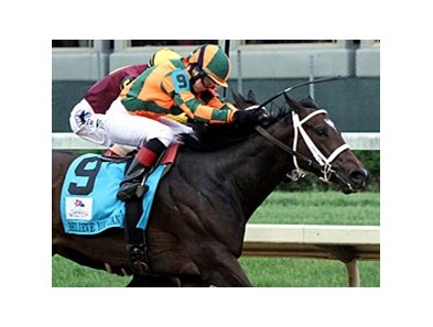 "2012 Kentucky Oaks winner Believe You Can faces 4 in the Mother Goose. <br><a target=""blank"" href=""http://photos.bloodhorse.com/AtTheRaces-1/at-the-races-2012/22274956_jFd5jM#!i=1836427591&k=j5NQMHf"">Order This Photo</a>"