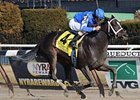 "It's Tricky takes the Top Flight at Aqueduct under Ramon Dominguez.<br><a target=""blank"" href=""http://www.bloodhorse.com/horse-racing/photo-store?ref=http%3A%2F%2Fpictopia.com%2Fperl%2Fgal%3Fprovider_id%3D368%26ptp_photo_id%3D9822819%26ref%3Dstory"">Order This Photo</a>"