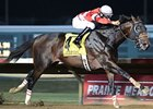 Fort Larned leads the way in the Prairie Meadows Cornhusker Handicap.