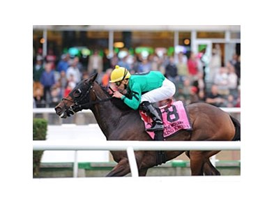 "King Kreesa won the 2013 Mohawk Stakes. <br><a target=""blank"" href=""http://photos.bloodhorse.com/AtTheRaces-1/at-the-races-2013/27257665_QgCqdh#!i=2844770468&k=QNBFWMr"">Order This Photo</a>"