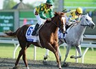 "Dullahan goes by Hansen to win the Blue Grass.<br><a target=""blank"" href=""http://photos.bloodhorse.com/AtTheRaces-1/at-the-races-2012/22274956_jFd5jM#!i=1794510710&k=mfxSnp3"">Order This Photo</a>"