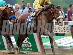 Union Rags wins the 2012 Belmont Stakes.