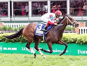 Kitten's Dumplings wins the Edgewood at Churchill Downs May 3, 2013