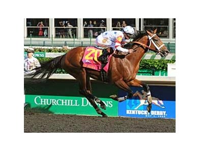 "Derby winner Big Brown<br><a target=""blank"" href=""http://www.bloodhorse.com/horse-racing/photo-store?ref=http%3A%2F%2Fpictopia.com%2Fperl%2Fgal%3Fprovider_id%3D368%26ptp_photo_id%3D4388818%0D%0A%26ref%3Dstory"">Order This Photo</a>"