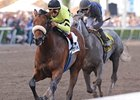 "Quality Road leaves Dunkirk behind in the Florida Derby.<br><a target=""blank"" href=""http://www.bloodhorse.com/horse-racing/photo-store?ref=http%3A%2F%2Fpictopia.com%2Fperl%2Fgal%3Fprovider_id%3D368%26ptp_photo_id%3D7958411%26ref%3Dstory"">Order This Photo</a>"