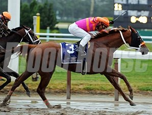 Ruler On Ice wins the Belmont Stakes.