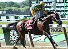 "Palace Malice will make his 2015 debut in the  Diablo Stakes May 10.<br><a target=""blank"" href=""http://photos.bloodhorse.com/AtTheRaces-1/At-the-Races-2014/i-XDrPQBd"">Order This Photo</a>"