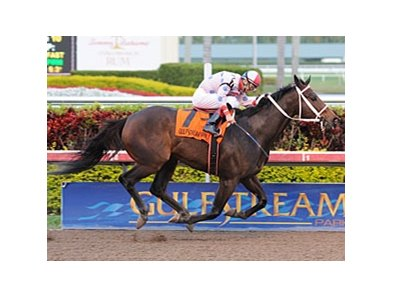 "Tackleberry and Javier Santiago take the Gulfstream Park Sprint Championship. <br><a target=""blank"" href=""http://www.bloodhorse.com/horse-racing/photo-store?ref=http%3A%2F%2Fpictopia.com%2Fperl%2Fgal%3Fprovider_id%3D368%26ptp_photo_id%3D9403281%26ref%3Dstory"">Order This Photo</a>"