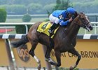 "Music Note pulls away to take the Mother Goose.<br><a target=""blank"" href=""http://www.bloodhorse.com/horse-racing/photo-store?ref=http%3A%2F%2Fpictopia.com%2Fperl%2Fgal%3Fprovider_id%3D368%26ptp_photo_id%3D4967530%26ref%3Dstory"">Order This Photo</a>"