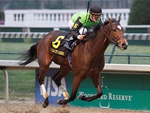Serenading wins the 2009 Falls City.