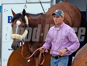 Gemologist - arrives at Churchill Downs on May 1, 2012.