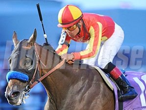Fiftyshadesofhay wins the 2013 Iowa Oaks.
