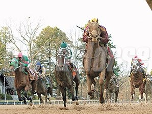 Far Right wins the 2015 Smarty Jones Stakes
