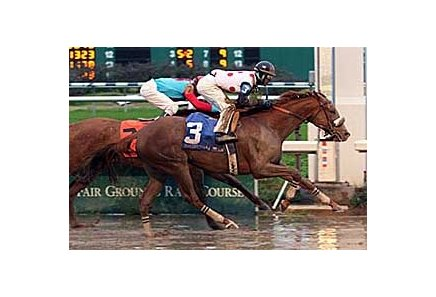 Autobahn won an off-the-turf Marie Krantz Memorial Handicap Jan. 26.