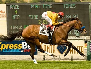 Tuscan Evening wins the 2010 Santa Barbara.