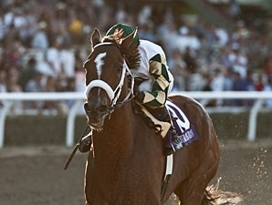Mucho Macho Man wins the 2013 Awesome Again.