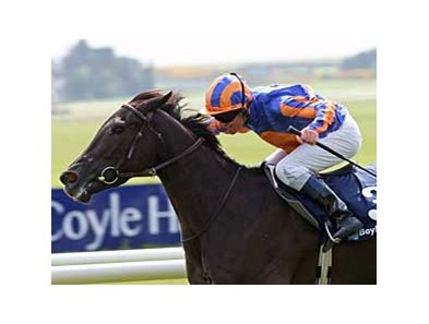 Halfway To Heaven triumphs in the Boylesports Irish One Thousand Guineas (Ire-I) at the Curragh May 25.