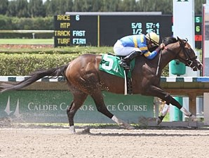 Indiano wins the 2011 Unbridled Stakes.