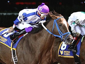Russell Road wins the 2014 West Virginia Breeders' Classic.