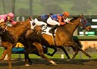 "Crisp gets the jump on Blind Luck (left) to win the Santa Anita Oaks.<br><a target=""blank"" href=""http://www.bloodhorse.com/horse-racing/photo-store?ref=http%3A%2F%2Fpictopia.com%2Fperl%2Fgal%3Fprovider_id%3D368%26ptp_photo_id%3D8825800%26ref%3Dstory"">Order This Photo</a>"