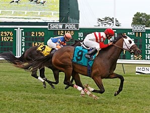 Jazzy Idea wins the 2012 Crank It Up Stakes.