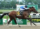 "Teeth of the Dog won the Easy Goer Stakes at Belmont Park on June 9.<br><a target=""blank"" href=""http://photos.bloodhorse.com/AtTheRaces-1/at-the-races-2012/22274956_jFd5jM#!i=1931660484&k=bLLj2nS"">Order This Photo</a>"