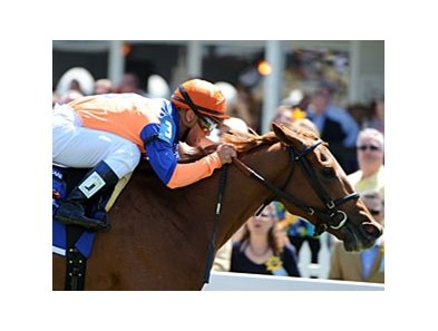 "Favorite Zagora delivers in the Gallorette.<br><a target=""blank"" href=""http://photos.bloodhorse.com/AtTheRaces-1/at-the-races-2012/22274956_jFd5jM#!i=1855406204&k=gmM3hZ4"">Order This Photo</a>"