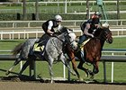 Flashback (outside) works with Den's Legacy at Santa Anita.