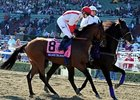"Balance the Books breaks from the rail in the Horseshoe Casino Cincinnati Spiral Stakes.<br><a target=""blank"" href=""http://photos.bloodhorse.com/BreedersCup/2012-Breeders-Cup/Juvenile-Turf/26130158_gHJcdg#!i=2194217174&k=pDZthFf"">Order This Photo</a>"