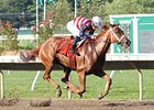 Seaneen Girl runs away with the Monmouth Oaks.