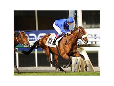 Opinion Poll and Frankie Dettori secure the victory in the Dubai Gold Cup.